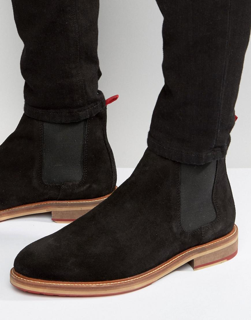 Trainer Boots In Black Suede With Back Pull - Black Asos x9qjOgR