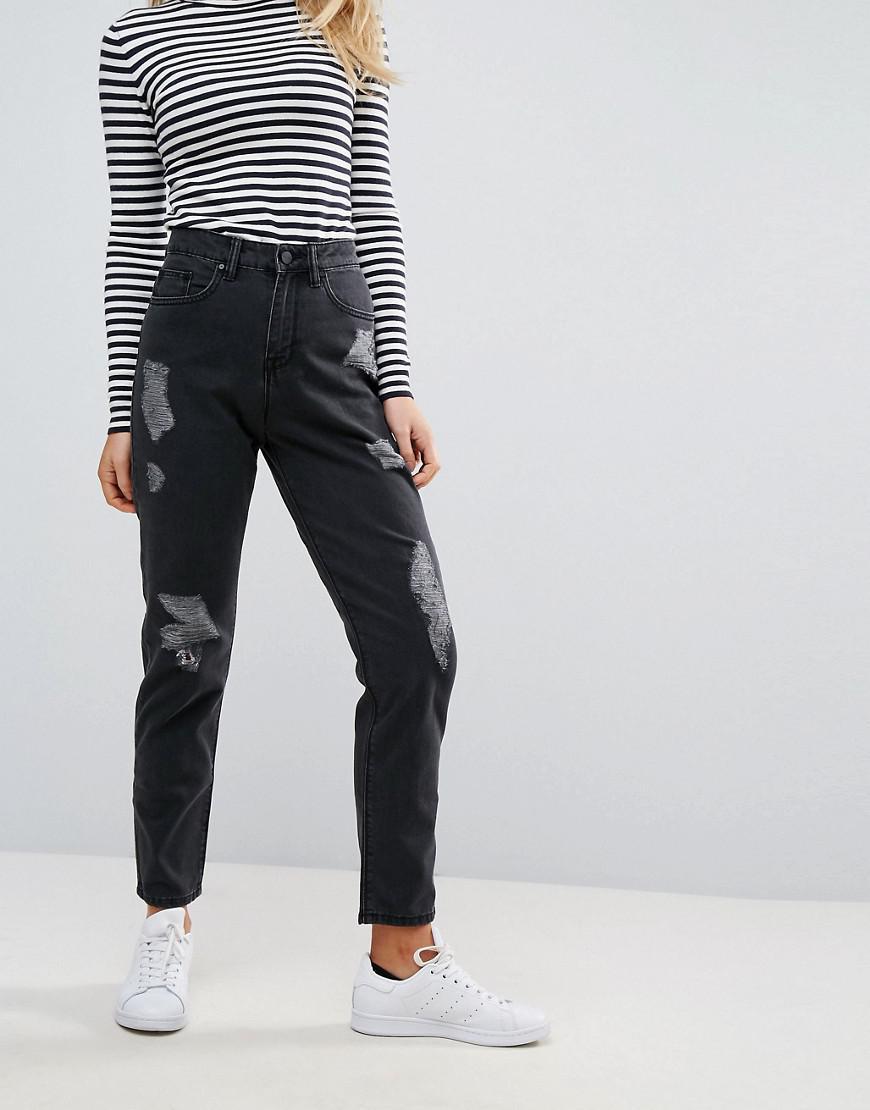 Elsa Mom Jeans - Black Wåven Best Wholesale For Sale 93rjAEJw