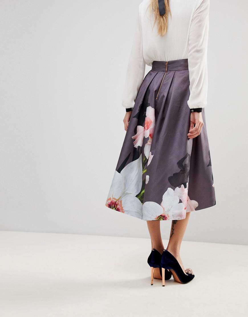 4da9ee89a Ted Baker Thali Full Skirt In Chatsworth Bloom - Lyst