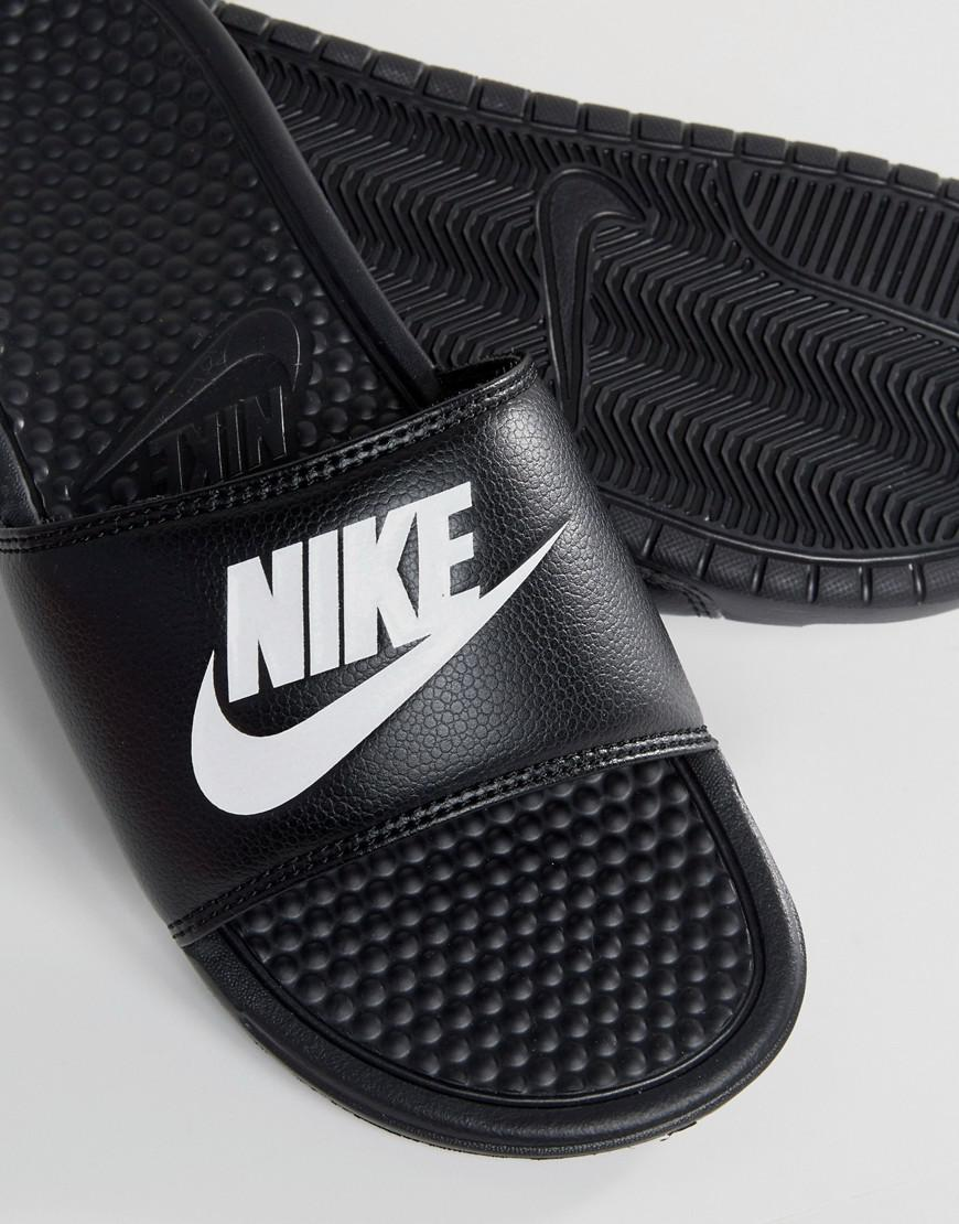 free shipping 096f4 8c6ee Nike. Men s Benassi Jdi Sliders In Black 343880-090