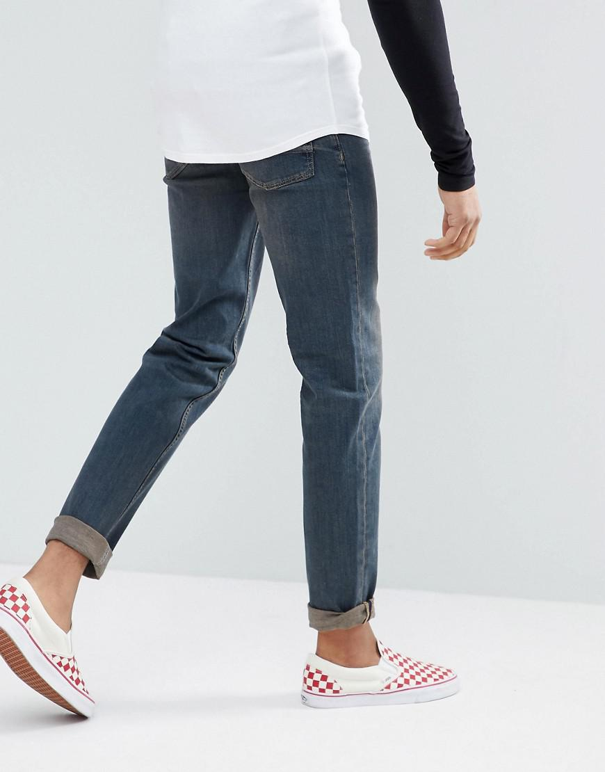 TALL Stretch Slim Jeans In Dark Wash Blue - Dark wash blue Asos Utn682