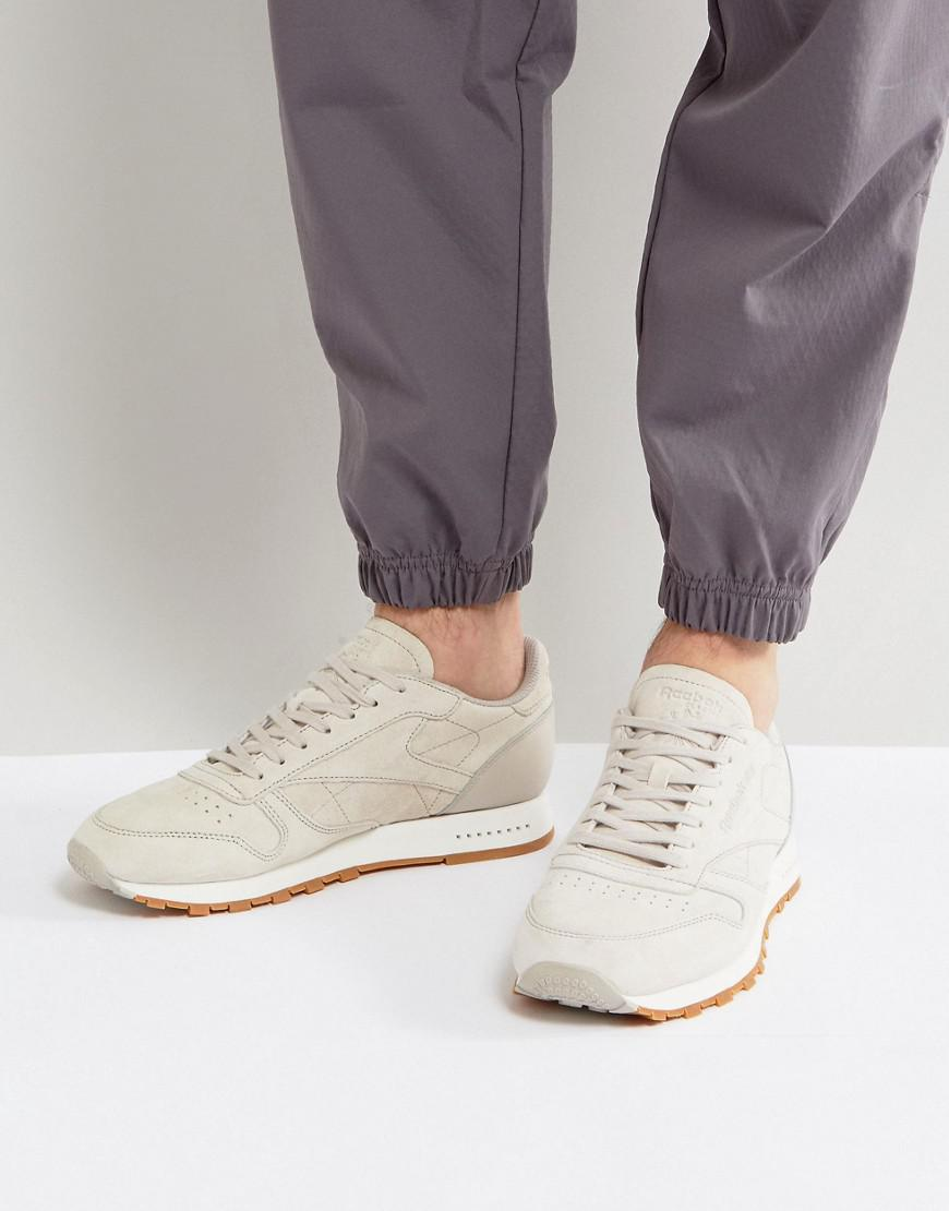 087be1bd83e Reebok Classic Leather Gum Sole Trainers In Beige Bs7893 in Natural ...