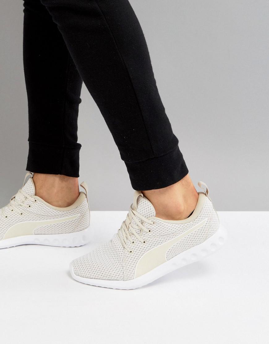 cb7557f1add PUMA Running Carson 2 Knit Sneakers In Beige 19003904 in Natural - Lyst