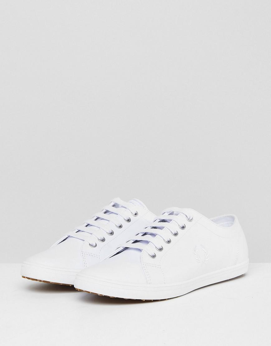 168e3f7180cf6 Lyst - Fred Perry Kingston Leather Plimsolls In White in White for Men