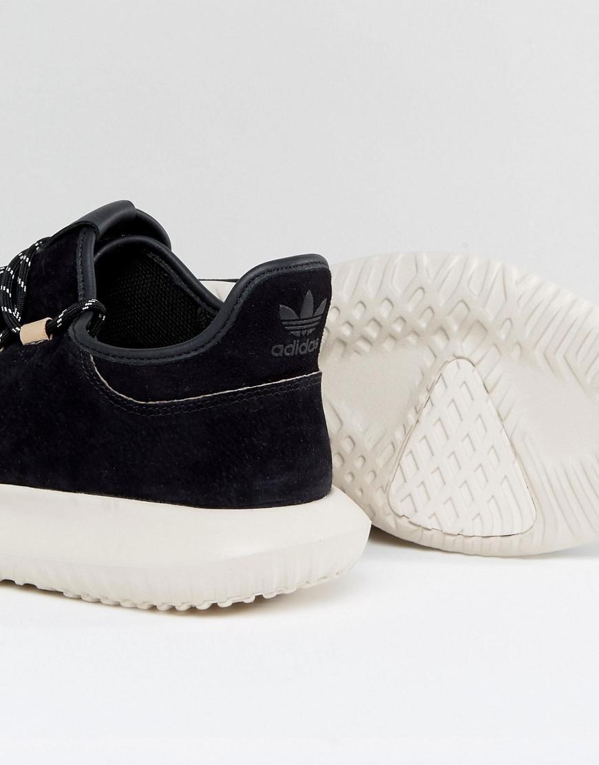 lyst adidas originals tubuläre schatten sneakers in schwarz by3568 in