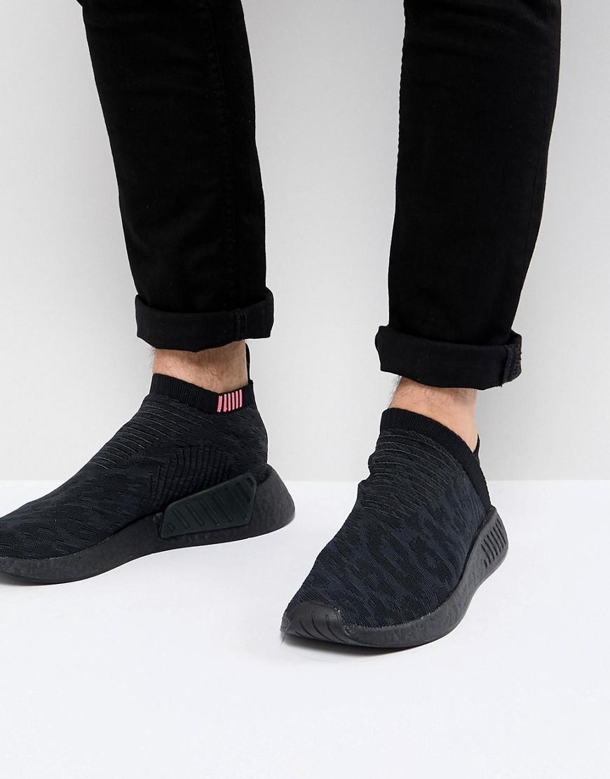 b8e89d753b9 adidas Originals. Men s Nmd Cs2 Primeknit Boost Sneakers In Black Cq2373
