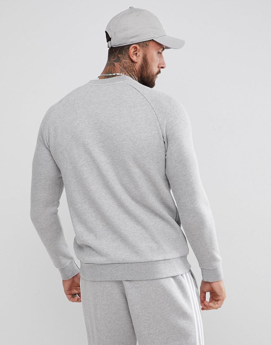 45bfc07de2f adidas Originals Adicolor Trefoil Logo Sweat In Grey Cy4573 in Gray for Men  - Lyst