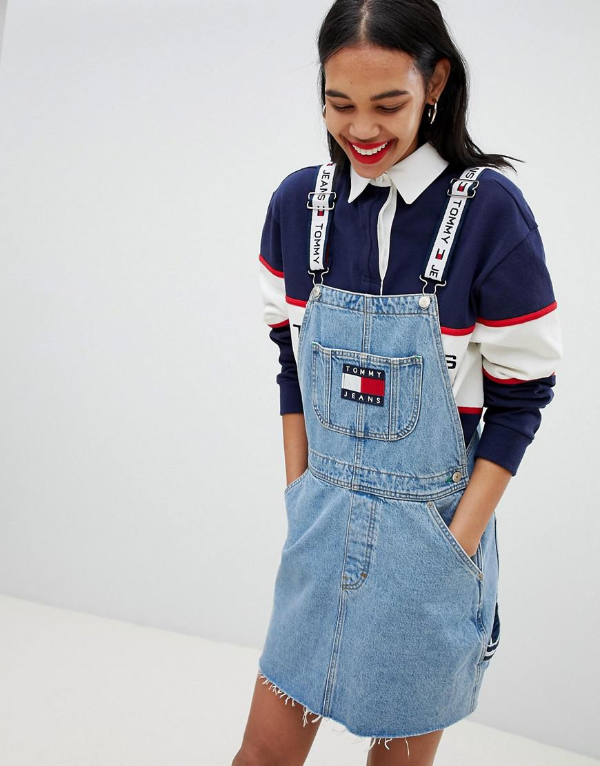 649a85ac Tommy Hilfiger Tommy Jean 90s Capsule 5.0 Denim Overall Dress in ...