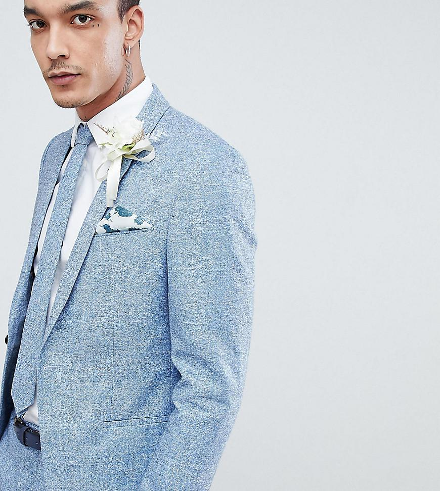 Lyst - Noak Slim Wedding Suit Jacket In Linen in Blue for Men