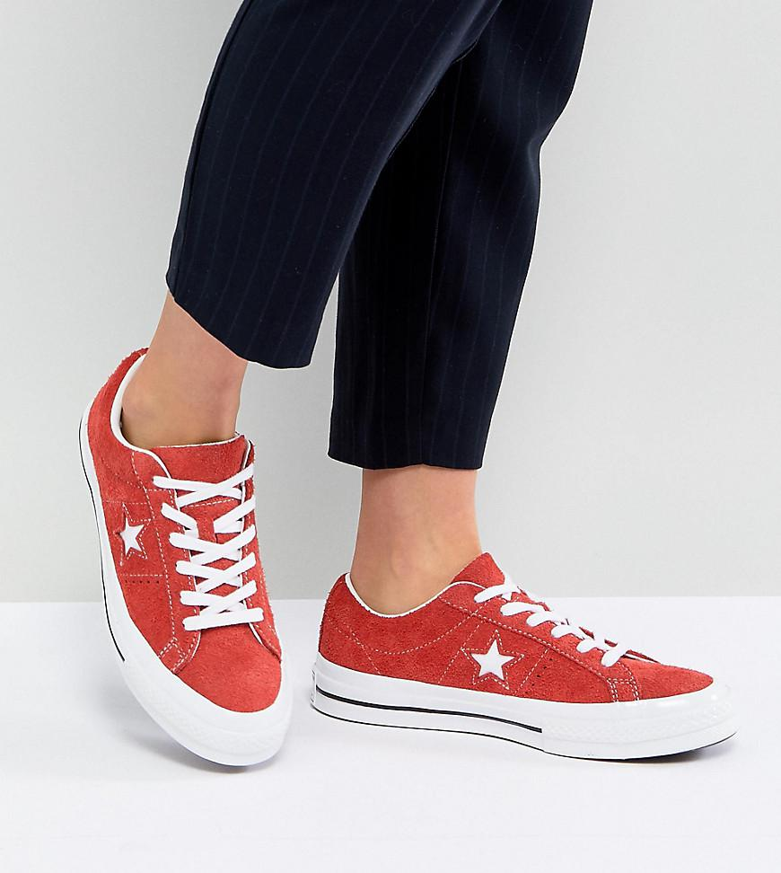 Converse One Star Ox Sneakers In Red Suede in Red - Lyst 046403071