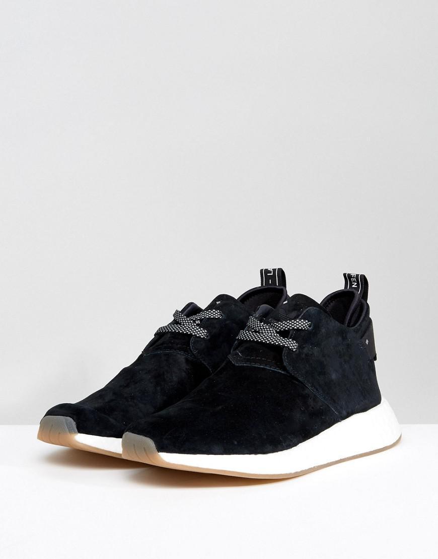 167318ecc953c adidas Originals Nmd C2 Trainers In Black By3011 in Black for Men - Lyst