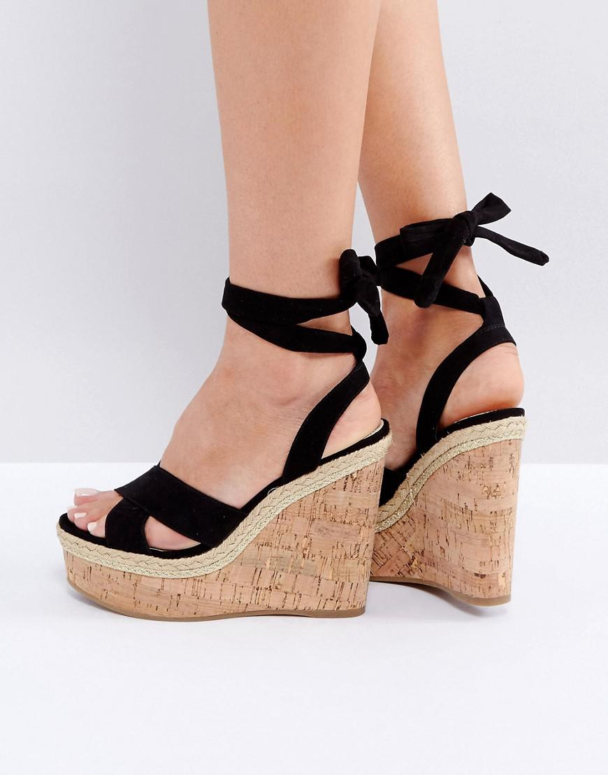 TAMSIN Tie Leg Sandals - Khaki Asos Footlocker Finishline Online Sale Browse Lowest Price For Sale A0F9hkKb