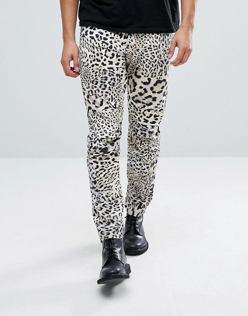 g star raw elwood 5622 x 25 pharrell jeans in leopard in. Black Bedroom Furniture Sets. Home Design Ideas