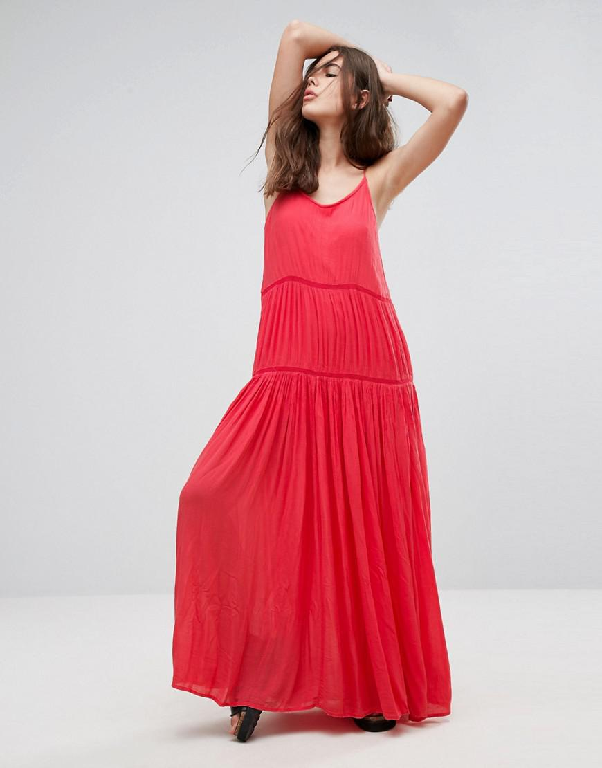 3508ea65faf9 Pepe Jeans Lala Essentials Maxi Dress in Orange - Lyst