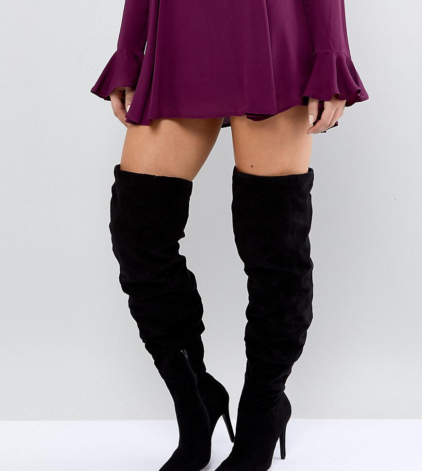 Thigh High Heeled Boot - Black New Look Discount For Cheap Discount Collections QiFmaQUxLV