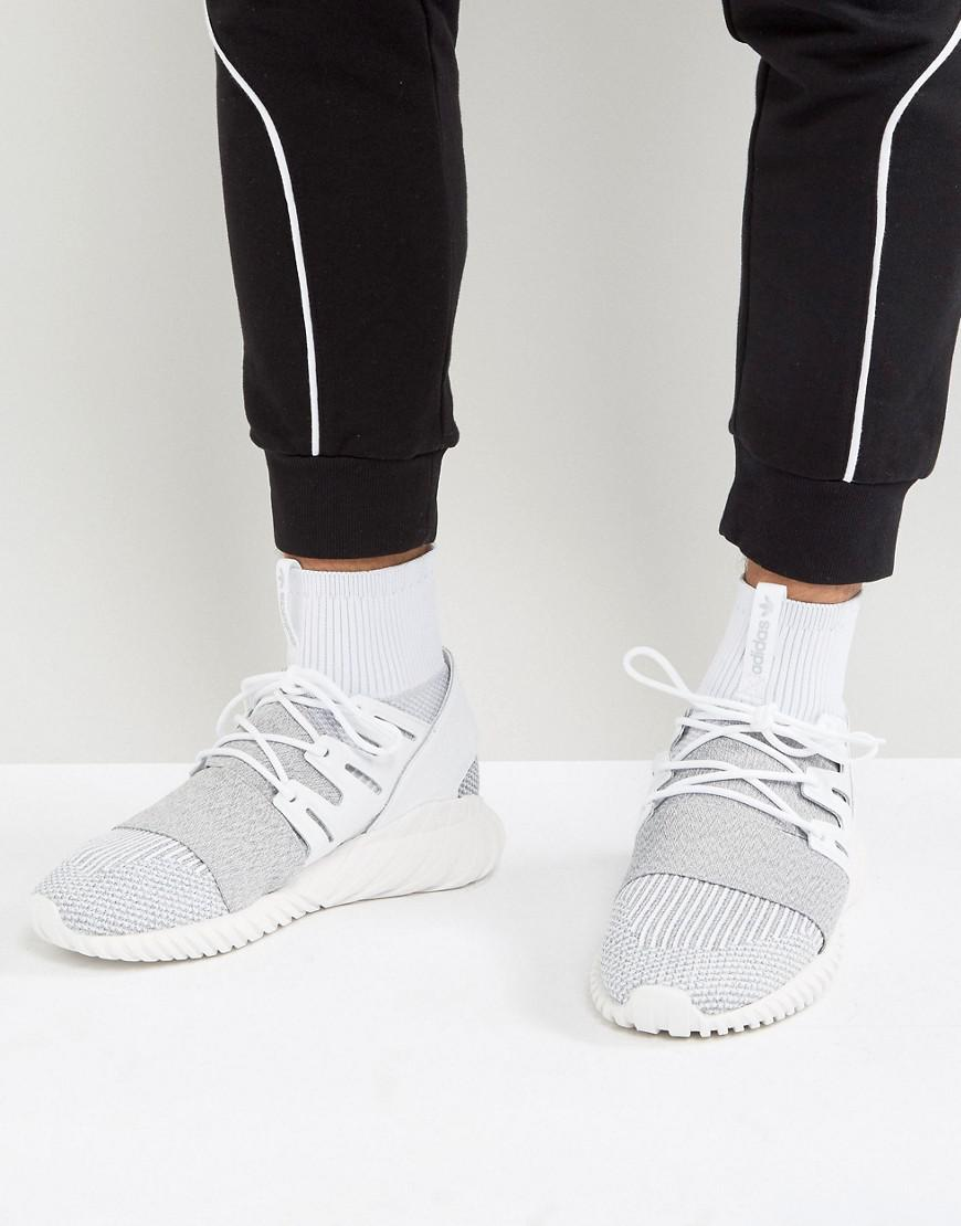classic fit 263da 74197 adidas Originals. Mens Gray Tubular Doom Primeknit Sneakers ...