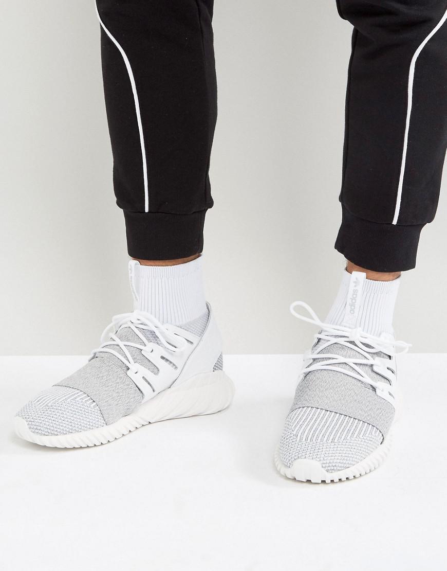 2bb1a1ebb4548 Tap to visit site. Adidas Originals - Gray Tubular Doom Primeknit Trainers  In Grey ...