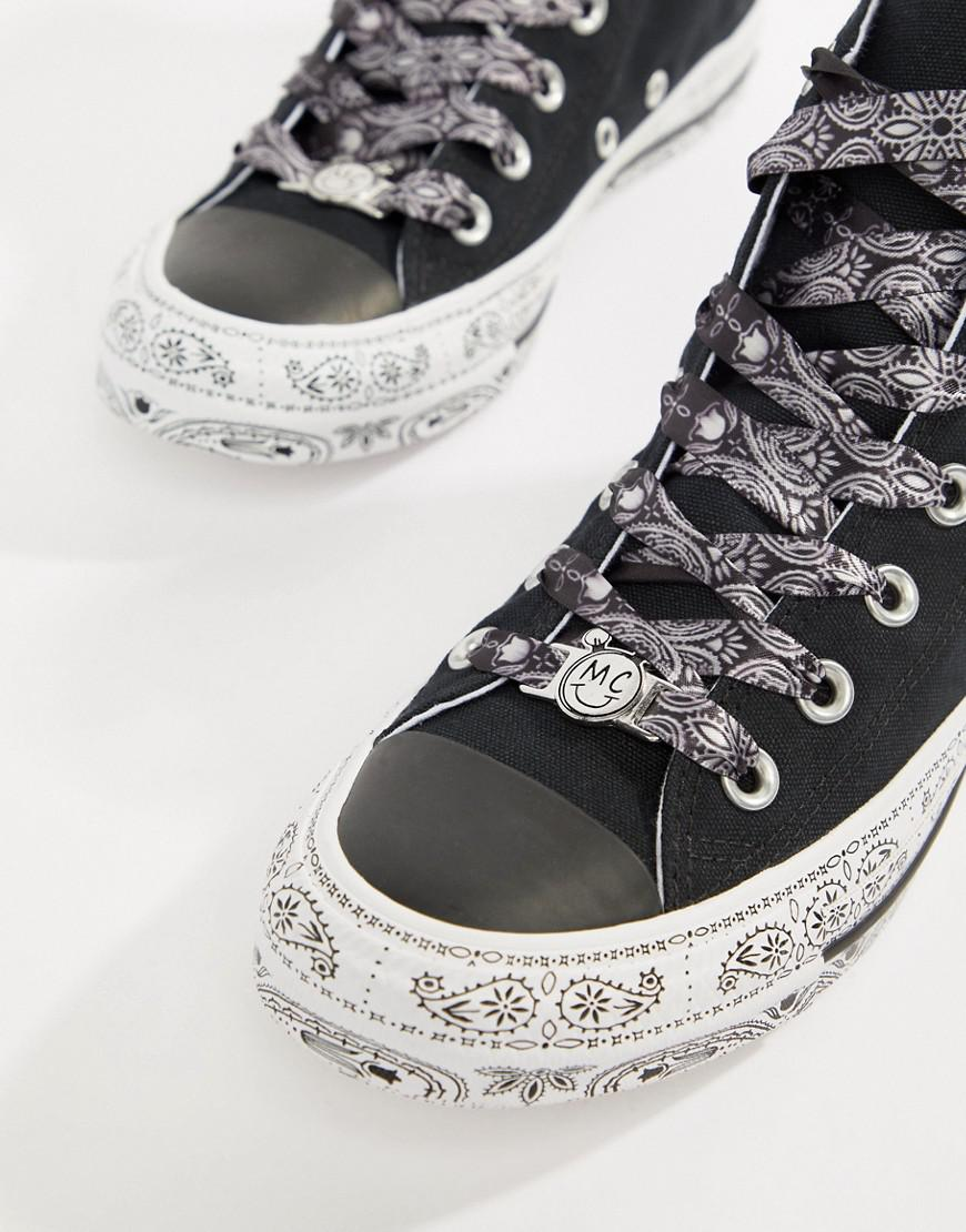 ad9ce8588f8951 Lyst - Converse X Miley Cyrus Chuck Taylor All Star Hi Trainers In ...