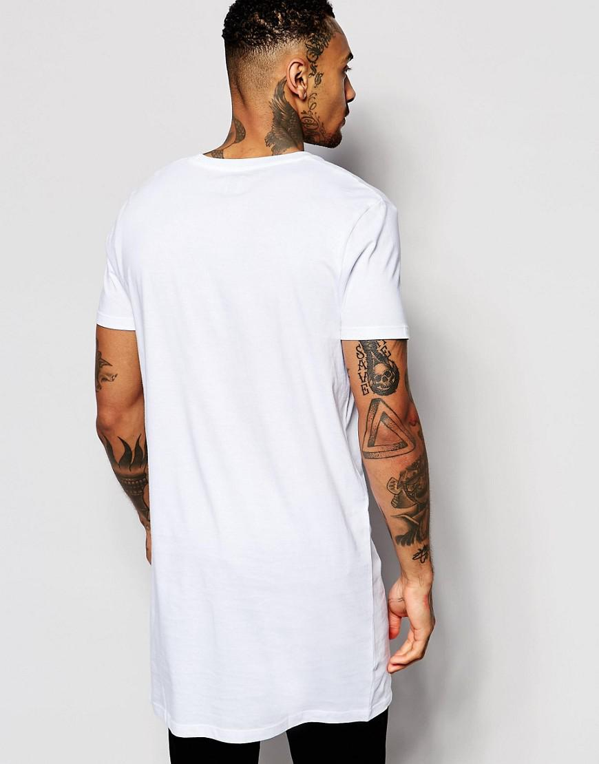Popular For Sale 2 Pack Super Longline T-Shirt In White/Black With Crew Neck SAVE - White/black Asos Cheapest Price Online Wholesale Price Online 6iTGk