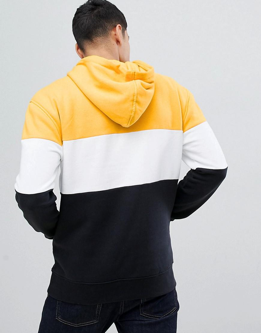 New Look Colour Block Hoodie With Half Zip In Yellow in Yellow for Men -  Save 21% - Lyst 4c5dfc4383