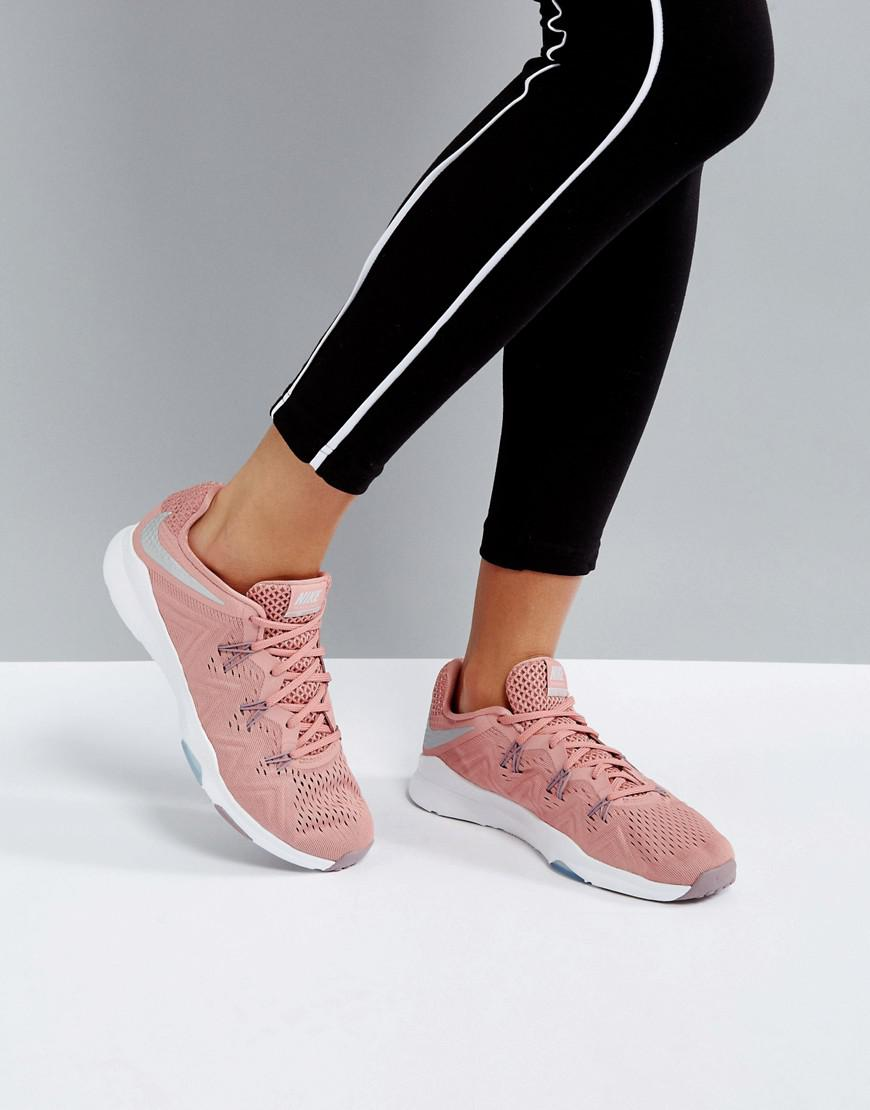 3010e6d9426950 Nike Training Zoom Condition Trainers In Pink in Pink - Lyst