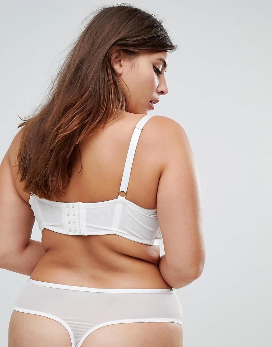 849299a63c4 ASOS Becca Strappy Lace Molded Bra in White - Lyst