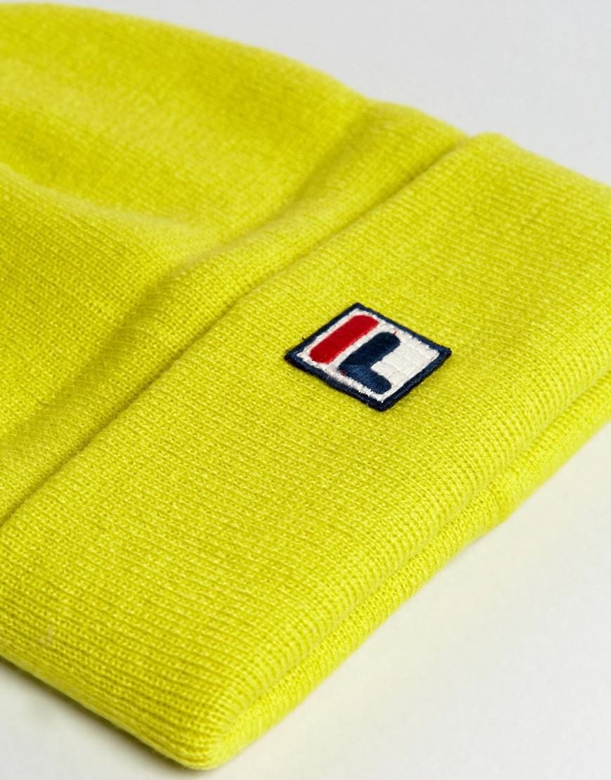 393de0f10f0 Lyst - Fila Fila Beanie With Small Box Logo In Yellow in Yellow for Men