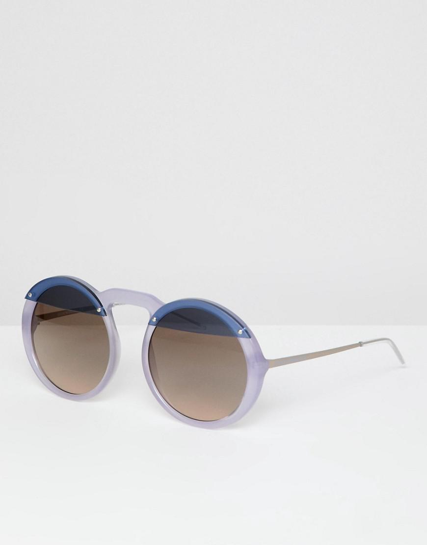 886bca3bab6 Emporio Armani Round Sunglasses in Purple for Men - Lyst