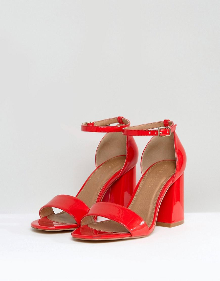 6cfa1a3c7f3 Lyst - ASOS Asos Heartache Wide Fit Heeled Sandals in Red