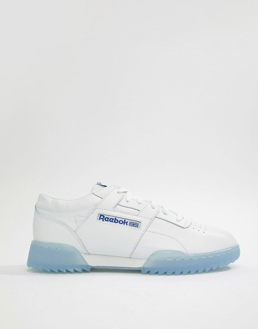 ff76b3dca14 Reebok Workout Clean Ripple Ice Sneakers In White Cm9931 in White ...