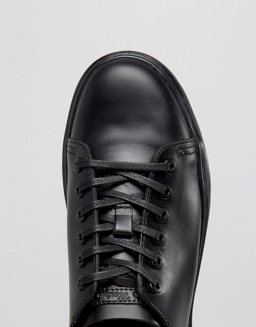 6-Eye Fusion Trainers In Black Smooth - Black Dr. Martens dEQONL