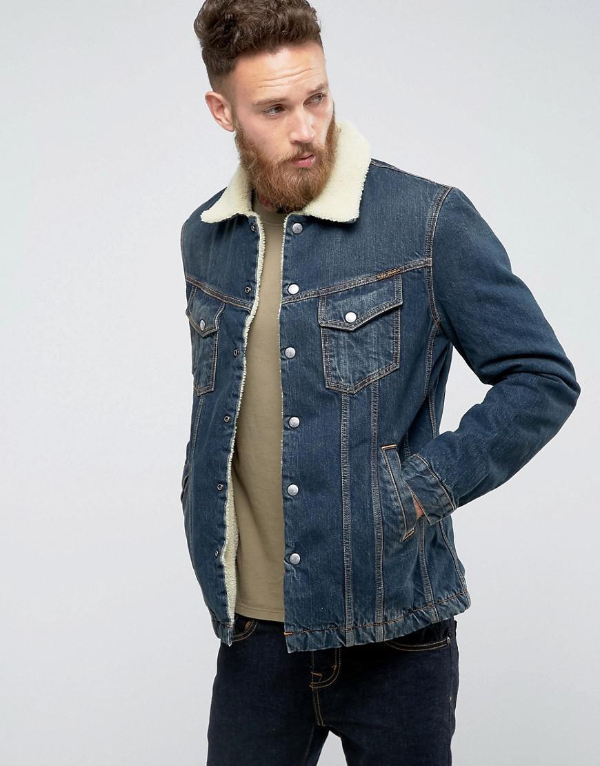 abc950a9998 Lyst - Nudie Jeans Co Lenny Denim Jacket Indigo Steel in Blue for Men