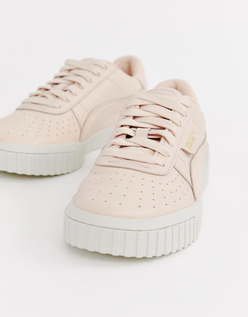 43fcf805fd75 PUMA Cali Emboss Cream Sneakers in Natural - Lyst