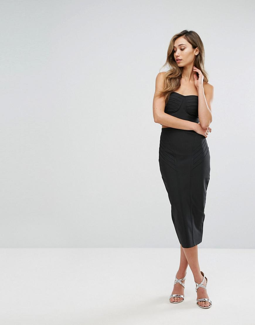 e3cea97799fd Lyst - Amy Lynn Occasion Bandage Bandeau Midi Skirt And Crop Top Co ...
