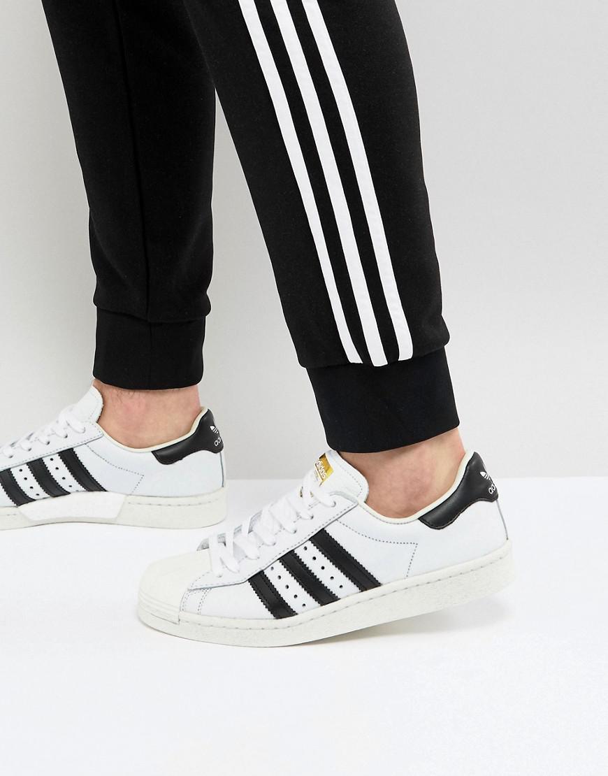 lyst adidas superstar impulso formatori in bianco originali in bianco.