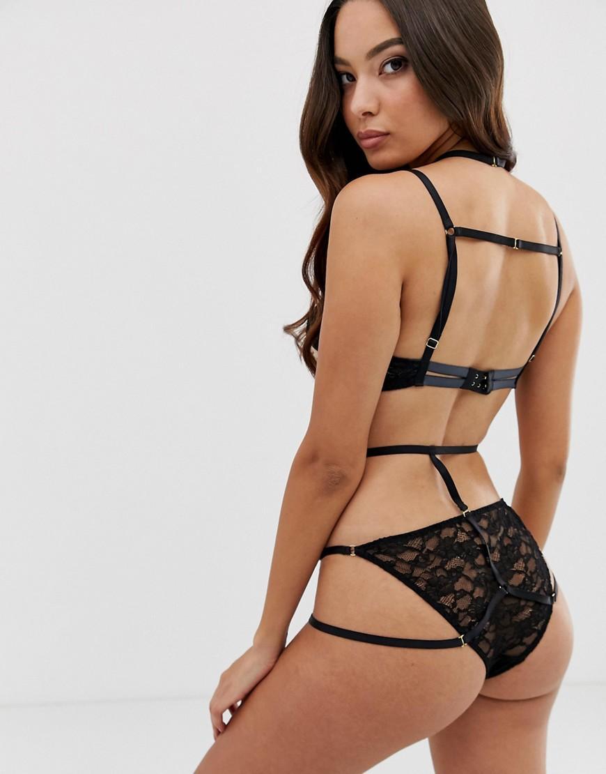 06fe35a89c97b Lyst - Coco De Mer X Playboy Strappy Brief in Black