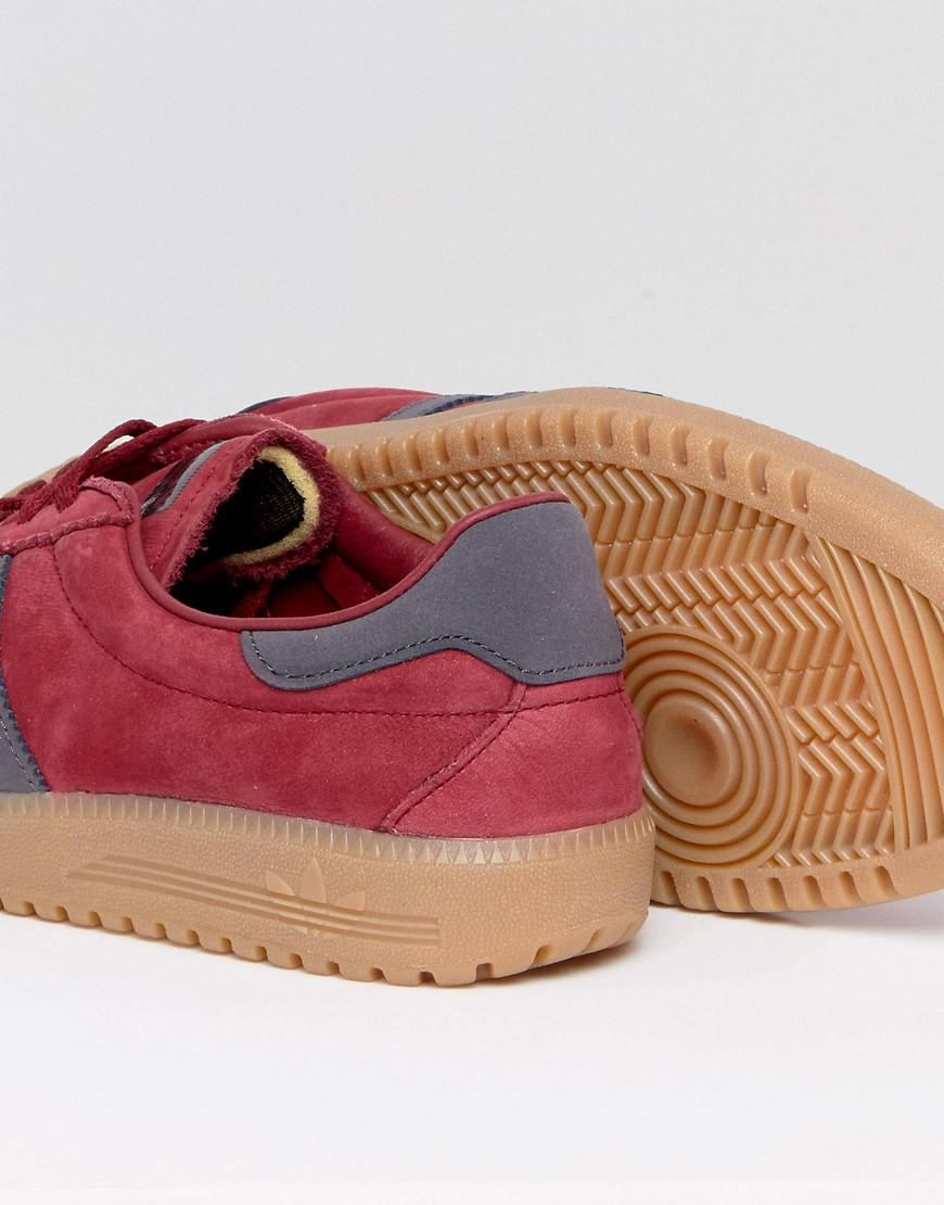 competitive price 7fc4f 36dff Lyst - adidas Originals Bermuda Suede Sneakers In Red By9653