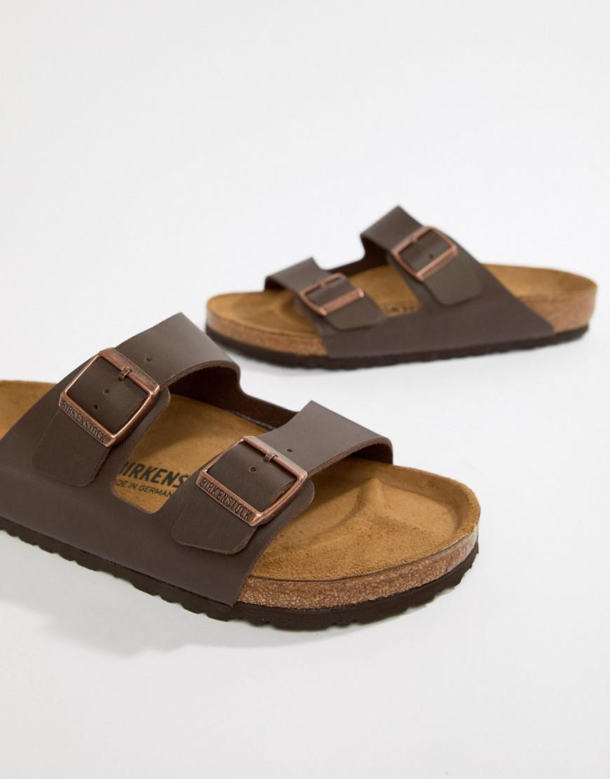 b867733486ae Birkenstock Arizona Birko-flor Sandals In Dark Brown in Brown for Men - Lyst