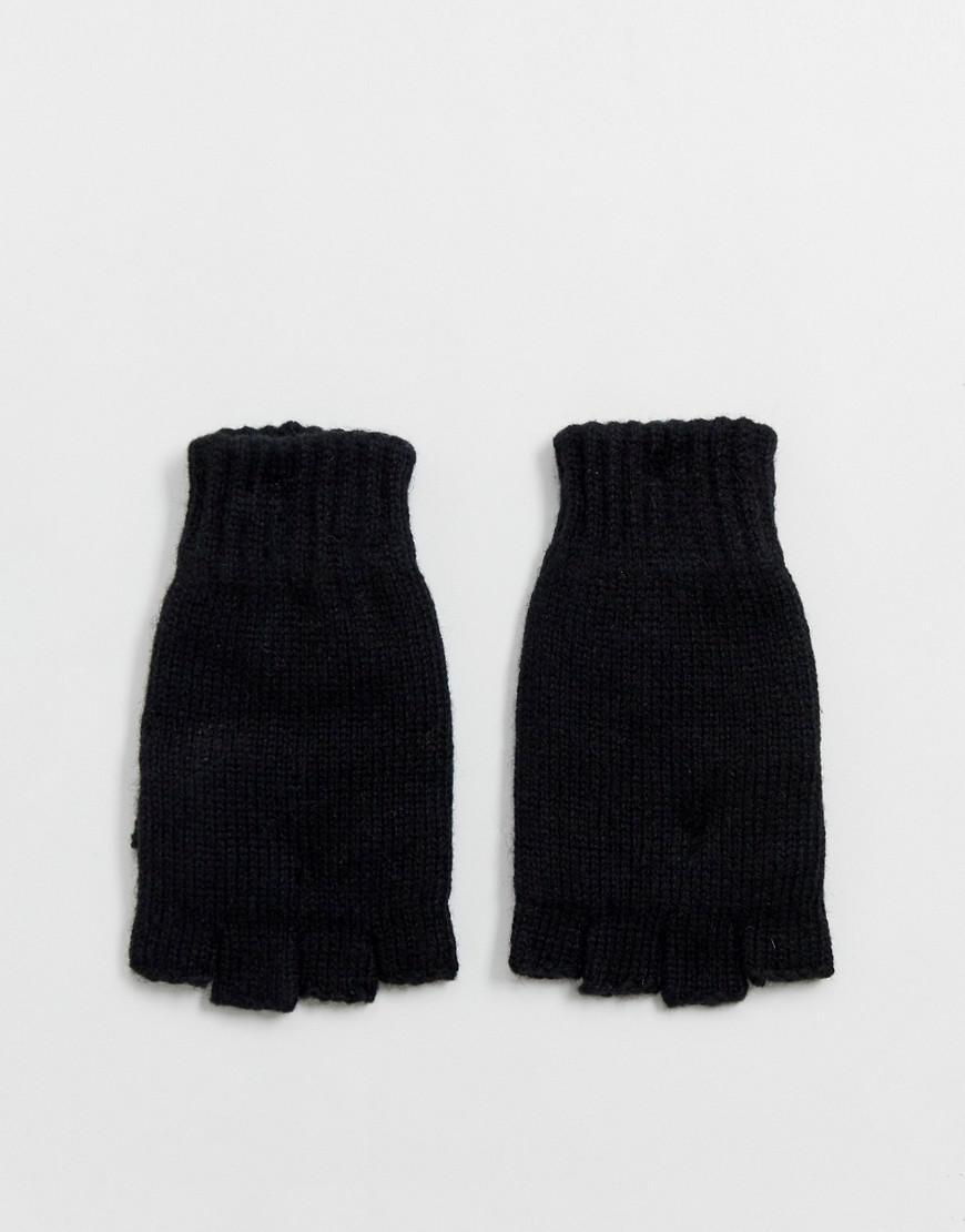 Lyst - Weekday Fingerless Gloves In Black in Green for Men