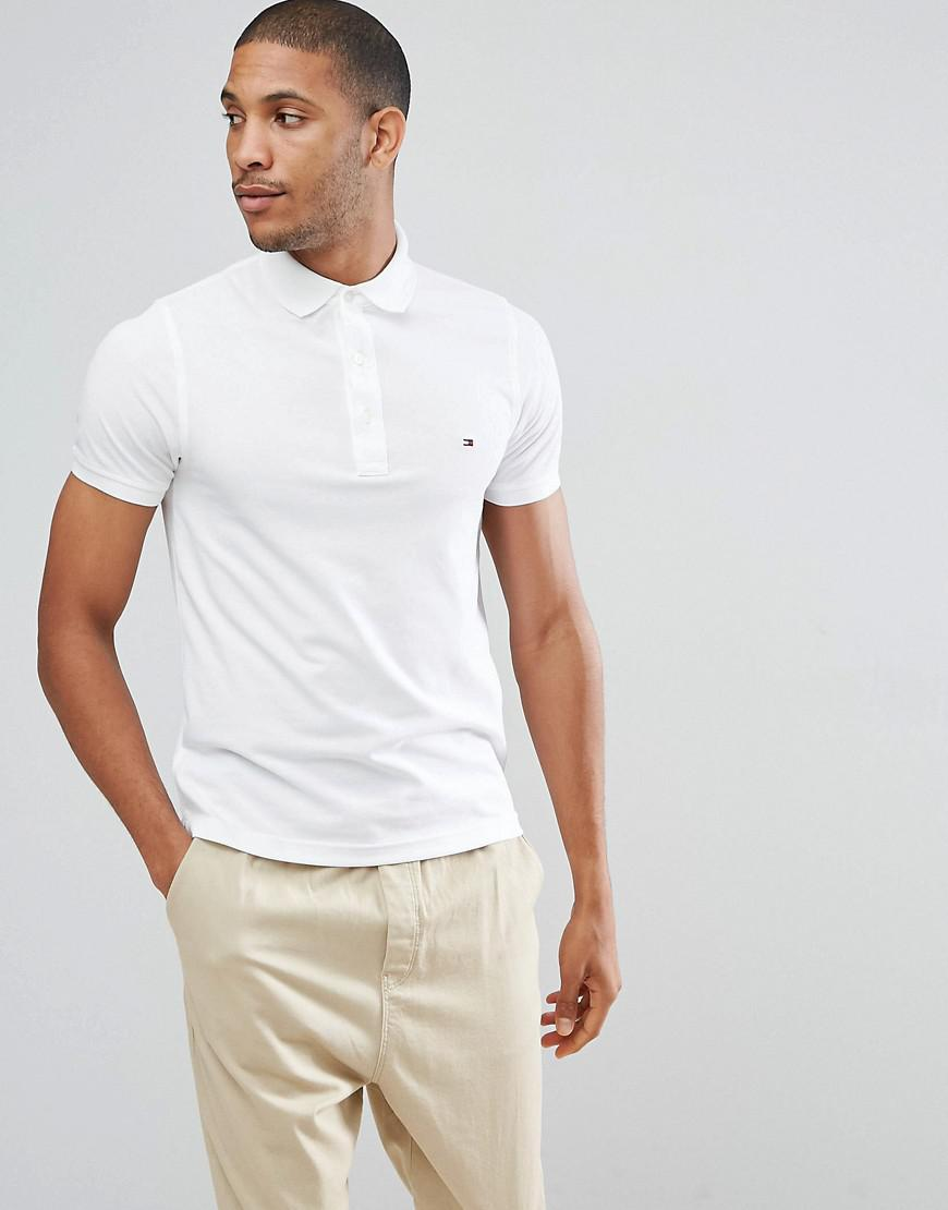 3b2e87401955 Tommy Hilfiger Slim Fit Polo In White in White for Men - Lyst
