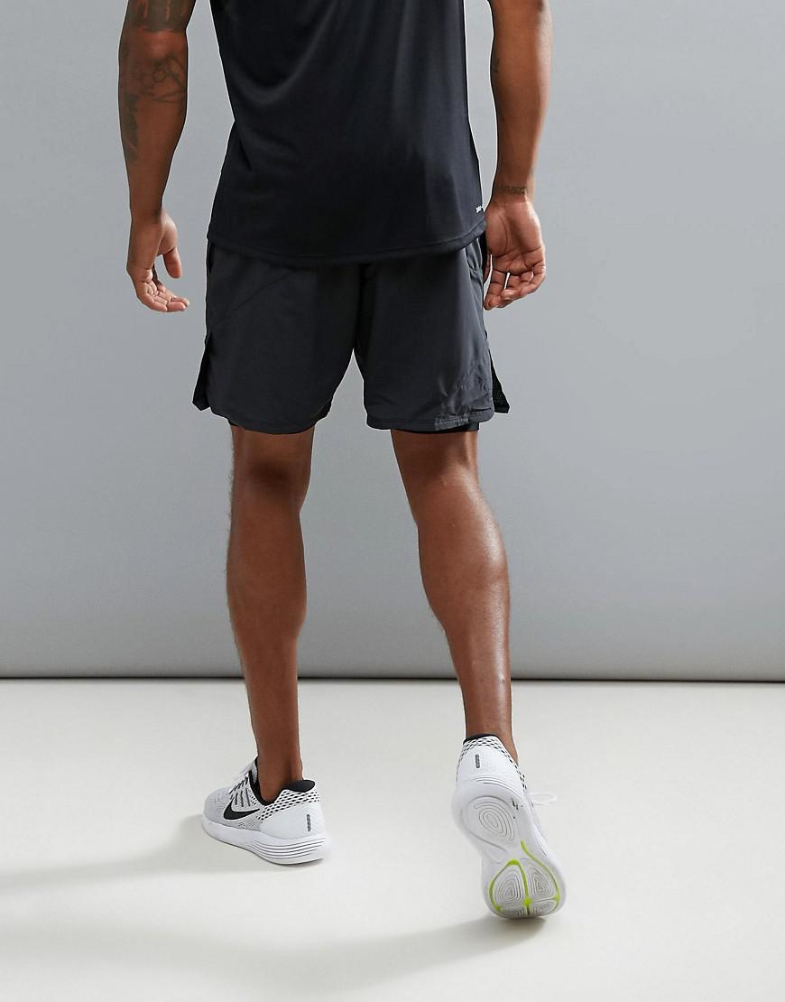 245866eef648f Nike Flex Distance 2-in-1 7 Shorts In Black 834222-010 in Black for ...