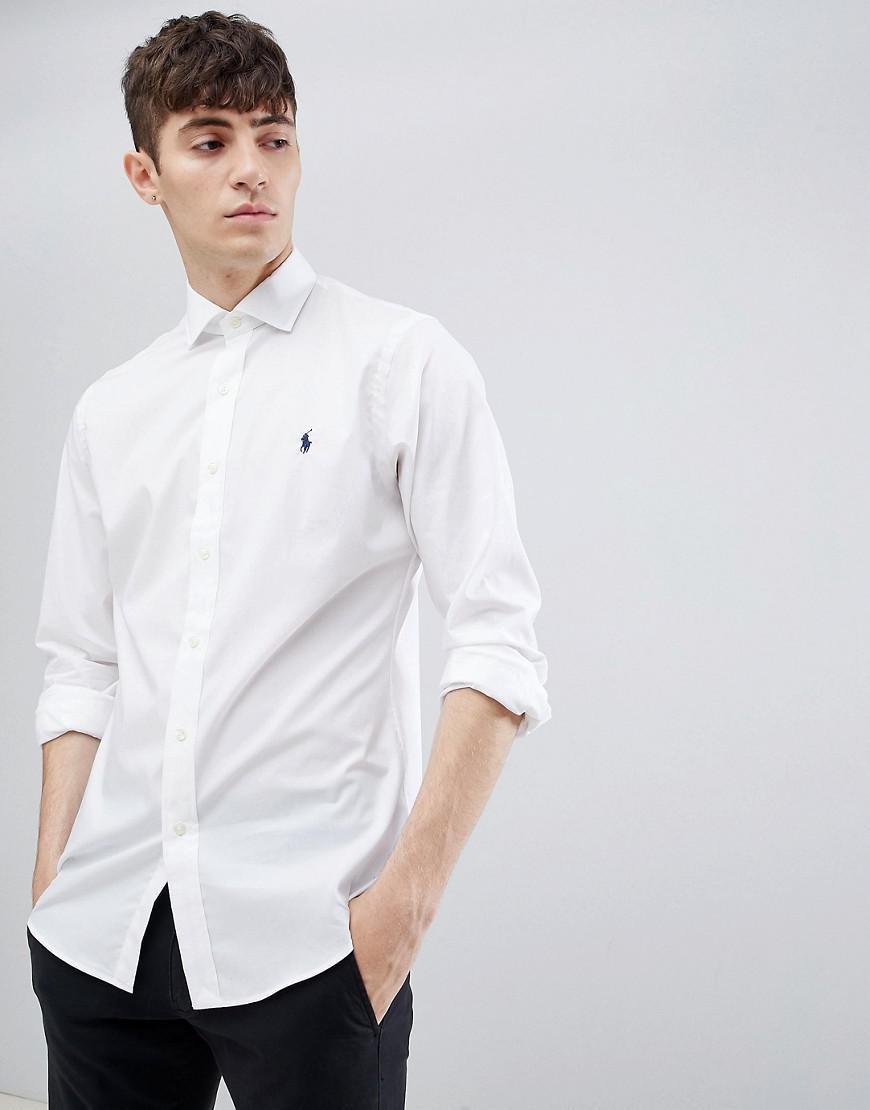 b4667288222b Polo Ralph Lauren Slim Fit Poplin Shirt With Player Logo Cutaway ...