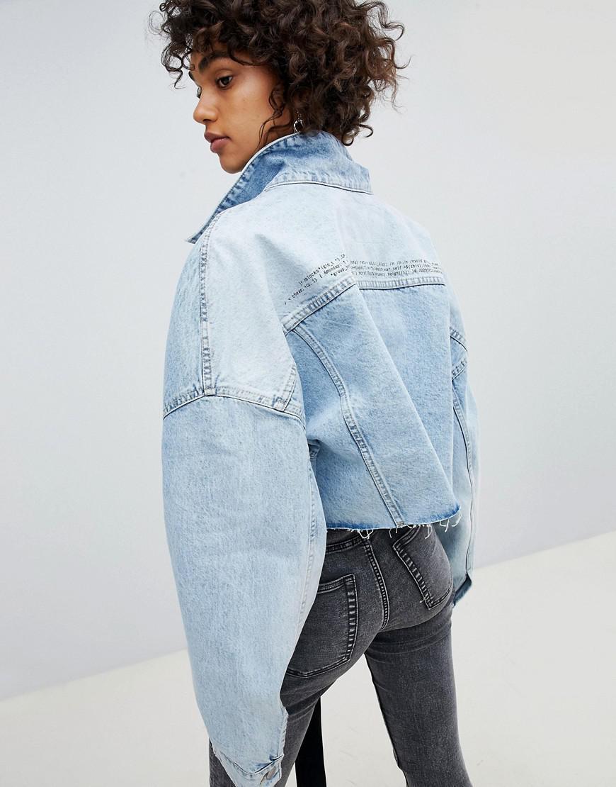 921ef47d7c Veste courte en jean oversize Cheap Monday en coloris Bleu - Lyst