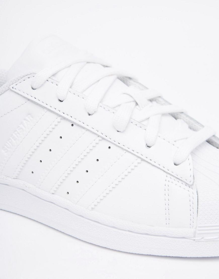 sports shoes a78a0 ac9c2 Lyst - adidas Originals Superstar Foundation White Unisex Trainers ...