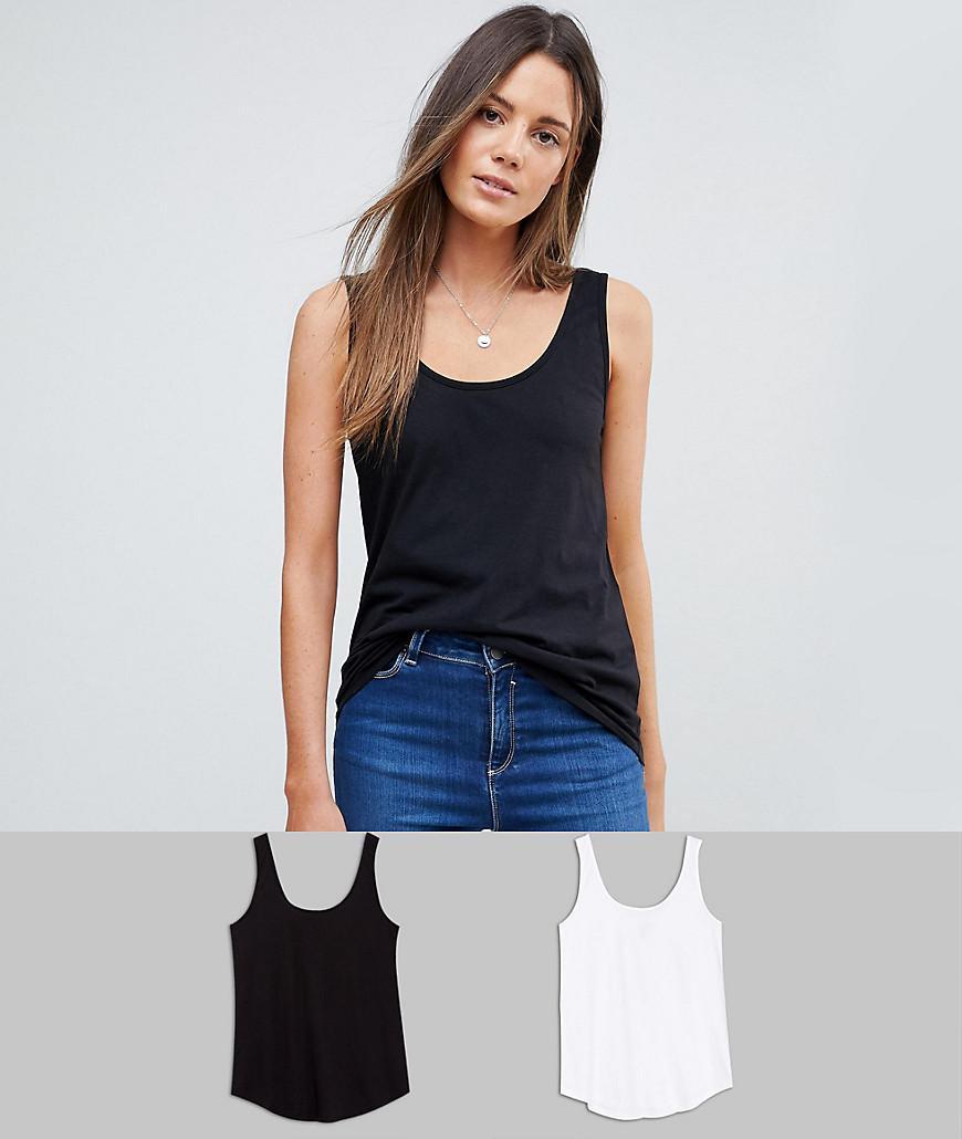 ASOS. Women's Black Ultimate Vest 2 Pack Save 20%
