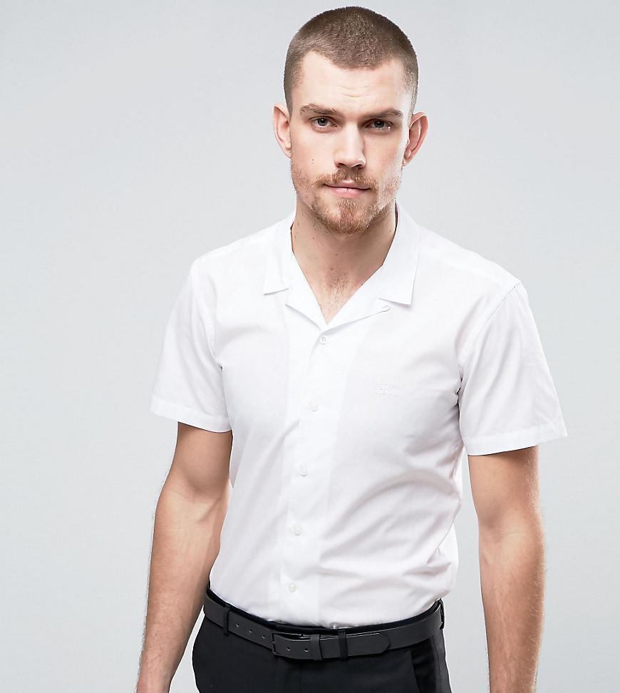 f401feecdfa27 Lyst - Hart Hollywood Slim Short Sleeve Revere Collar Shirt in White ...