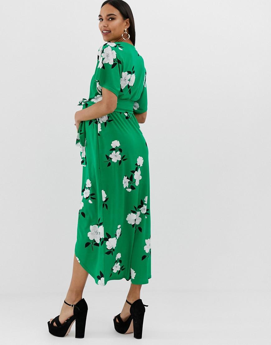 343d38b9bfe Floral Wrap Maxi Dress Asos