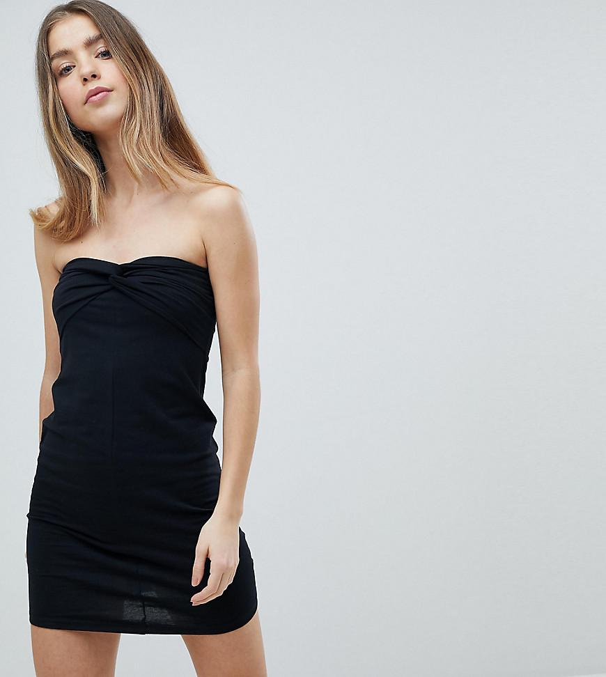 Mini Twist Front Bandeau Dress - Black Asos Pictures Sale Online Discount In China d6tVlN