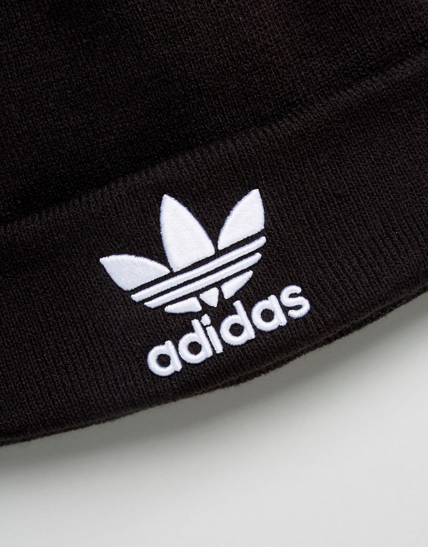 d8372dcdbdf29 adidas Originals Trefoil Beanie In Black Bk7634 in Black for Men - Lyst