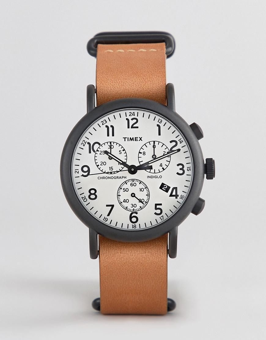 197c1f3eb414 Reloj con cronmetro con correa de de cuero de 40 mm Weekender ...